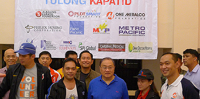 MVP leads 'Tulong Kapatid' drive for flood victims
