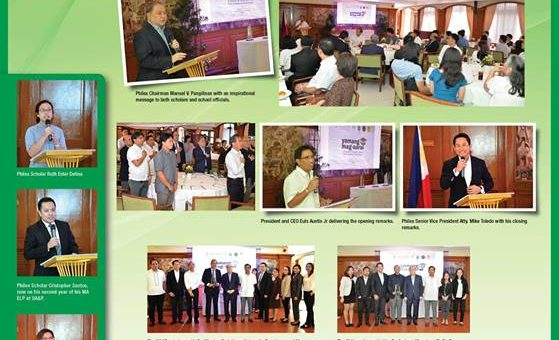 Philex invests in the future of the nation. Philex is a responsible partner of government in nation-building