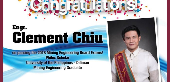 CONGRATULATIONS CLEMENT CHIU!