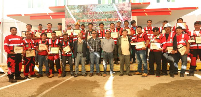 PHILEX HONORS RESCUE TEAM