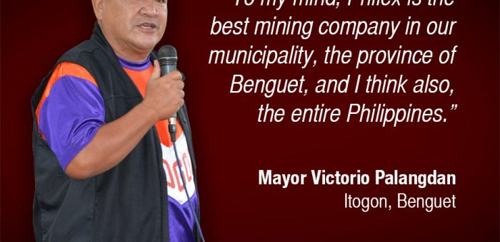 Itogon Mayor Commends Philex Mining