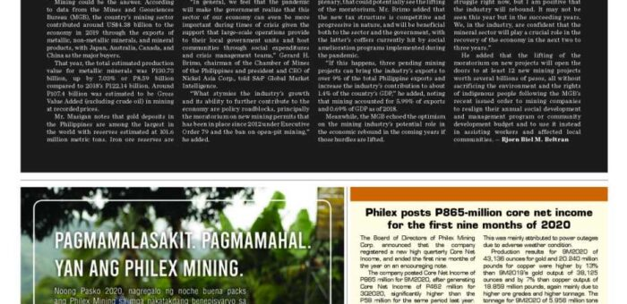 Philippine Mining: A Contributor to Economic Recovery